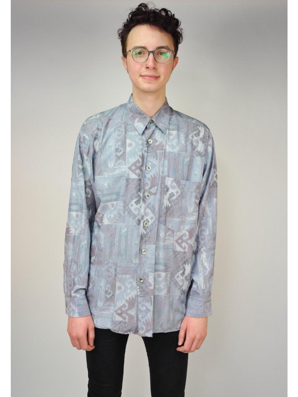 vzorovaná vintage košile Stefano