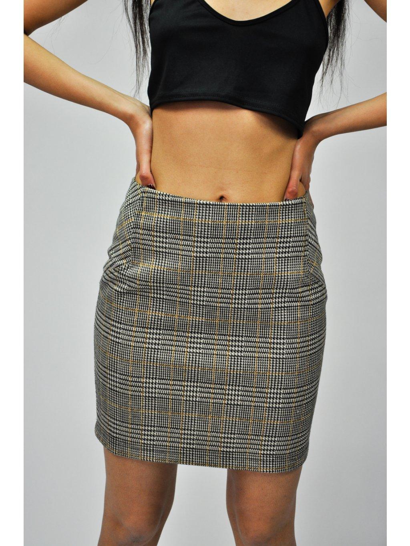 károvaná sukně na gumu