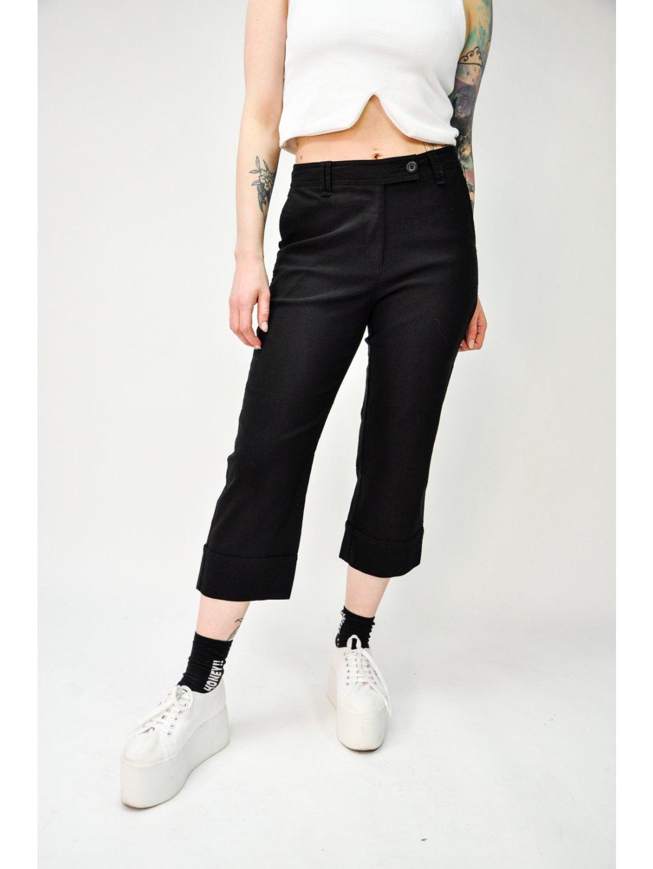 černé 3/4 kalhoty