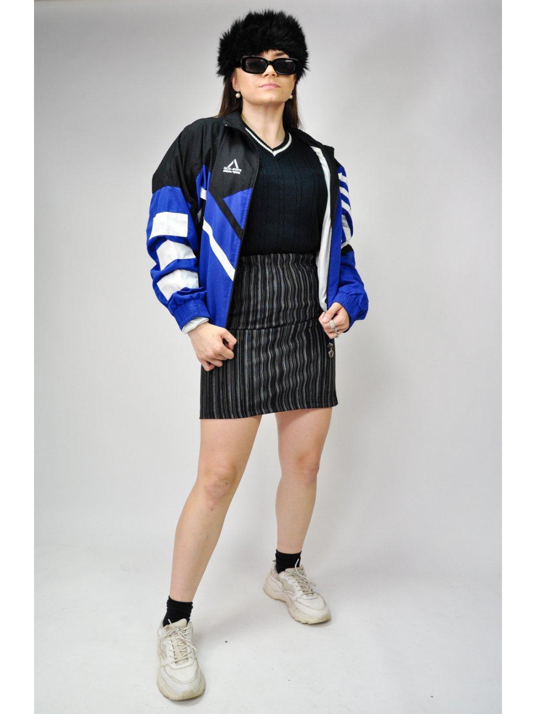 černá pruhovaná sukně na gumu