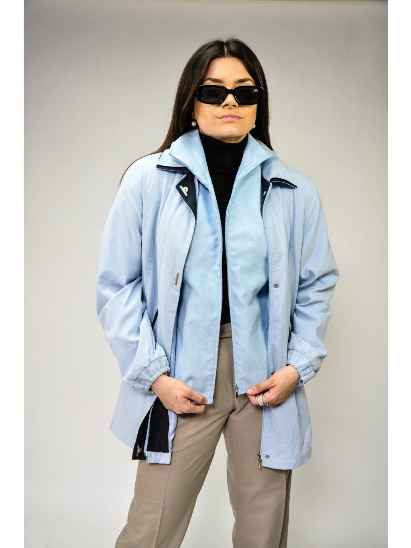 světle modrá vintage bunda