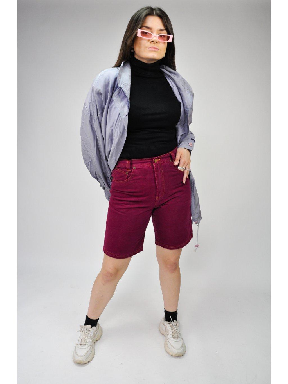 tmavě fialová vintage kraťasy