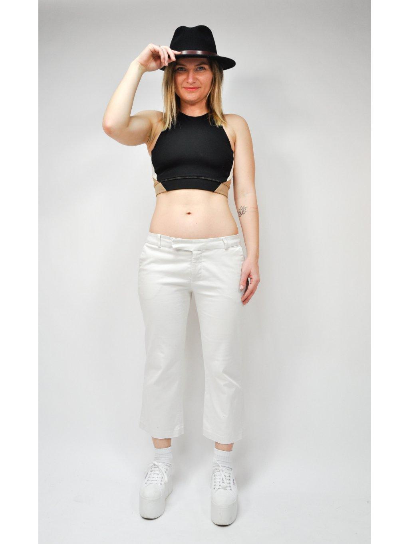 krémové kalhoty Zara