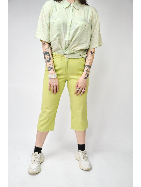 zelené  3/4 kalhoty