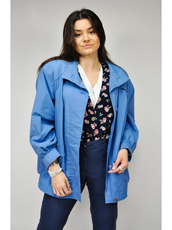 modrá vintage jarní bunda
