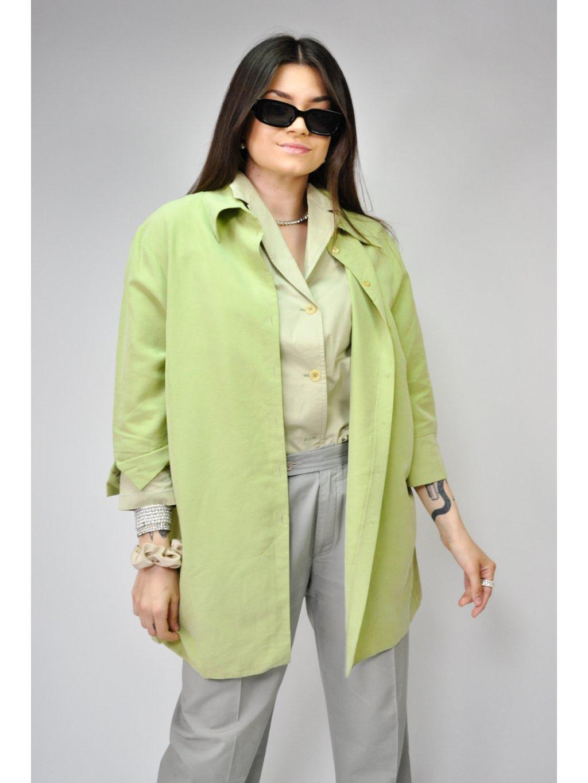 zelená vintage košile