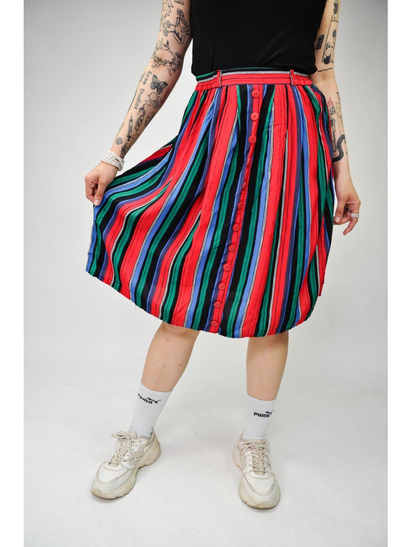 vintage pruhovaná sukně