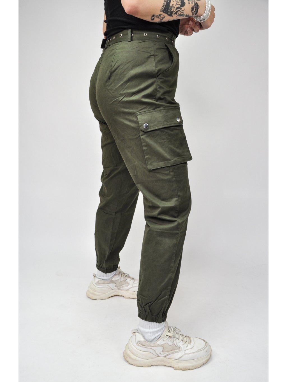 zelené kapsáče s páskem