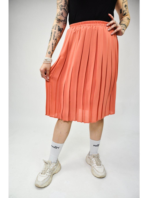 staro růžová vintage sukně se sklady