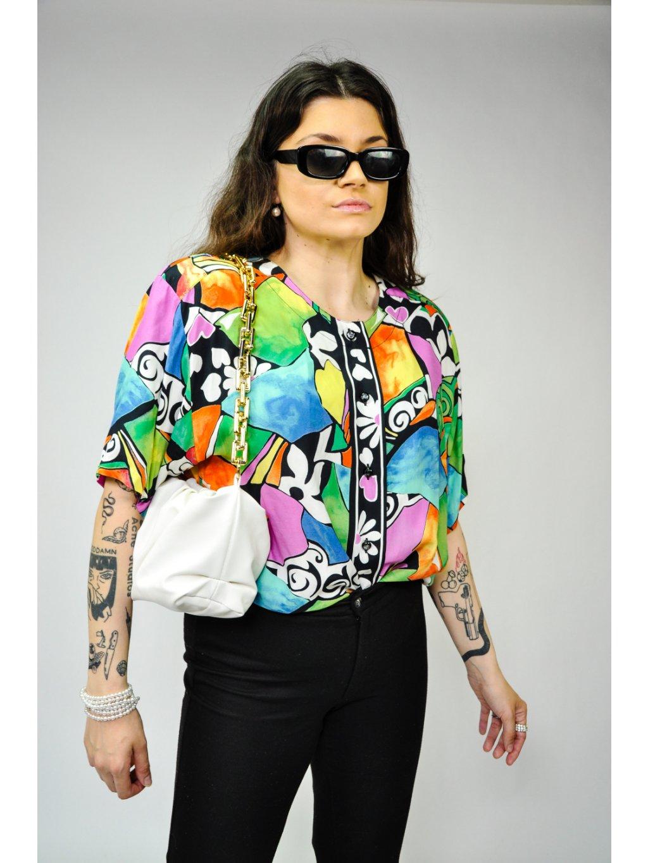 barevná vintage košile
