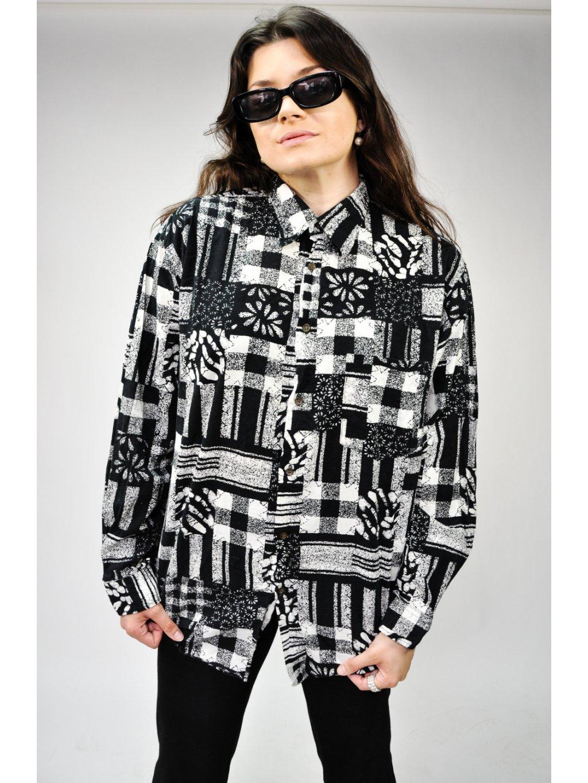 černobílá vintage košile