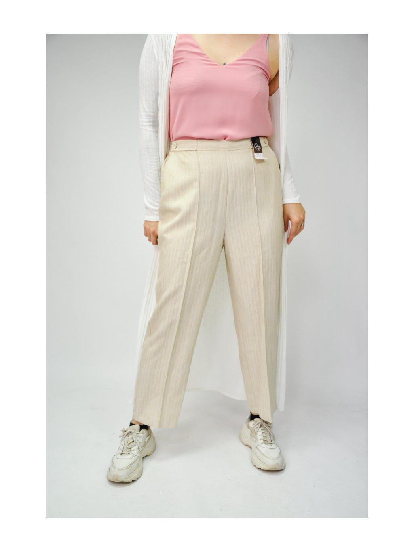 béžové elegantní kalhoty