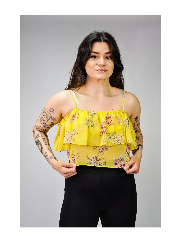 žluté tílko s květy