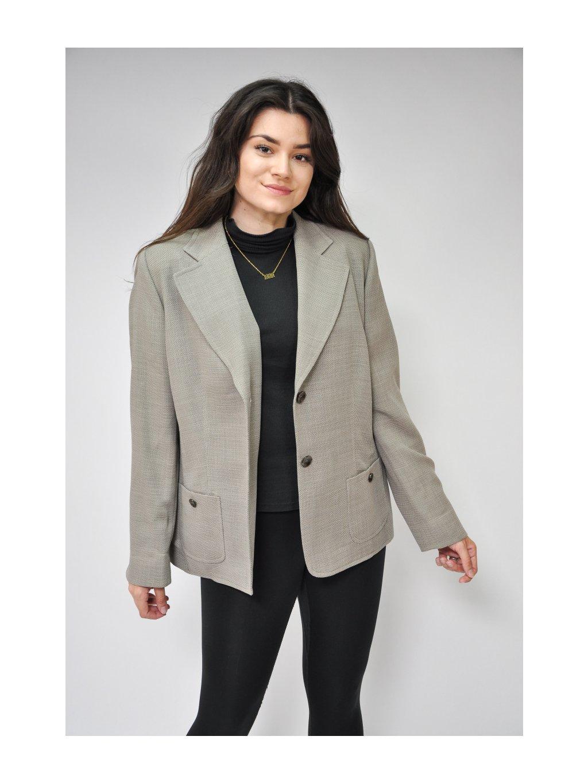 vintage šedé sako