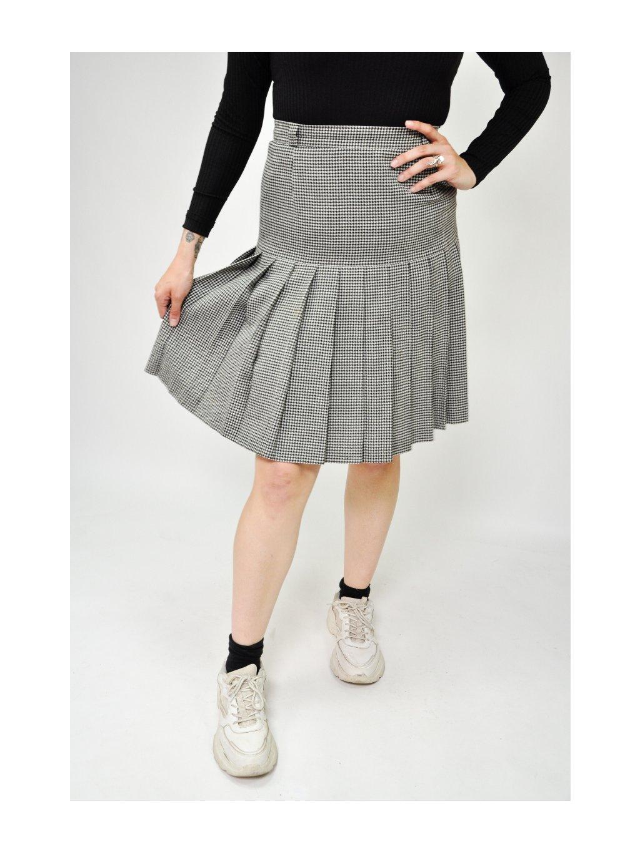 vintage sukně se vzorem kohoutí stopy
