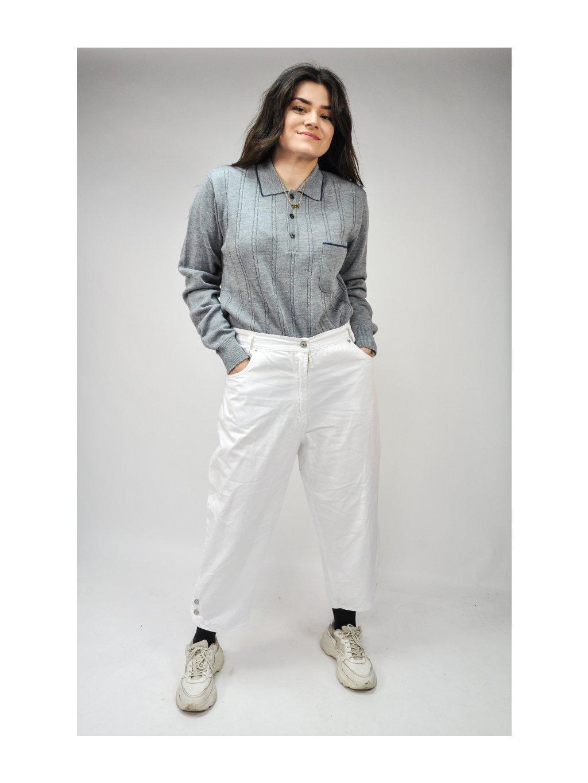 bílé vintage kalhoty