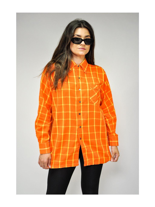 oranžovo žlutá košile