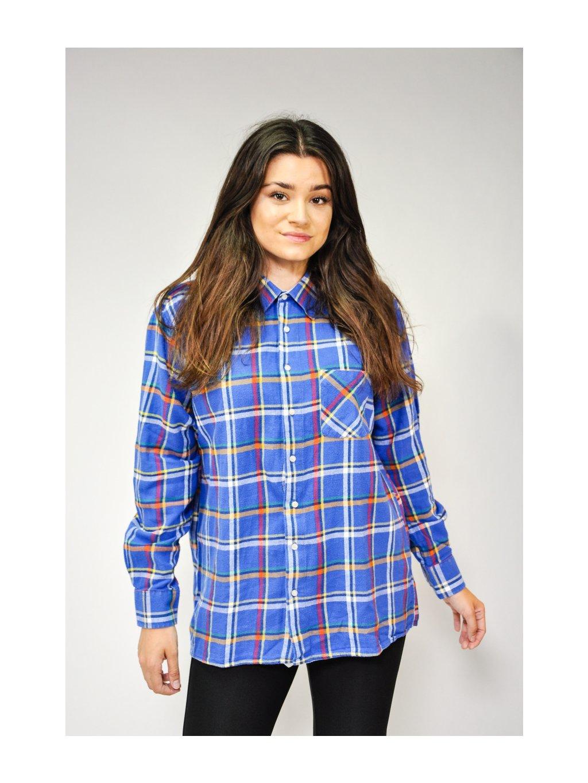 modrá károvaná košile