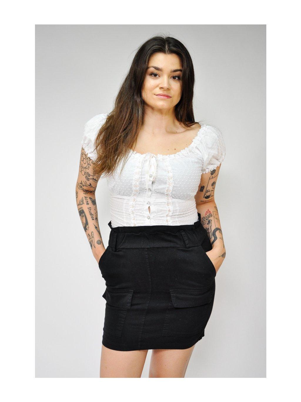 černá sukně s kapsami