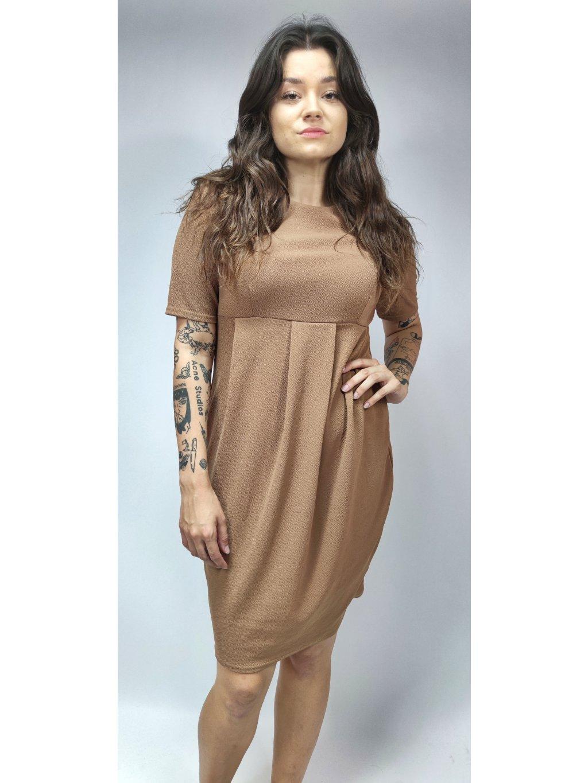 hnědé elegantní šaty