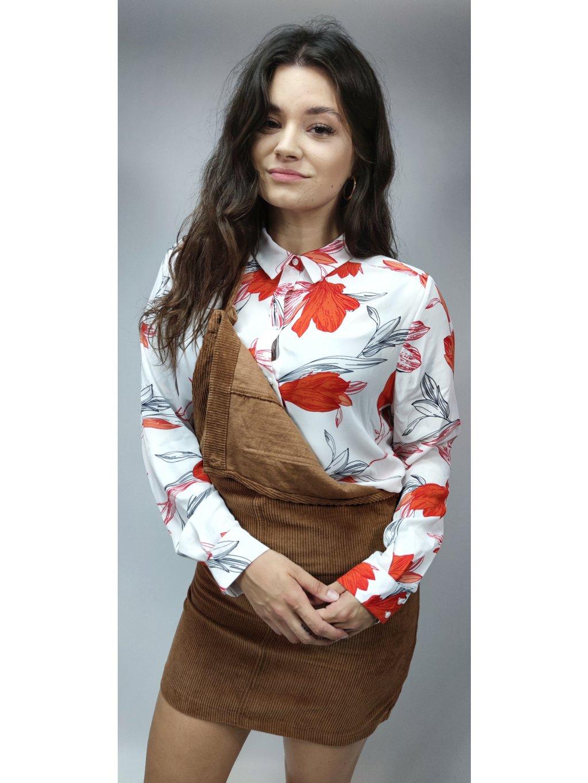 prodyšná košile s motivem květů