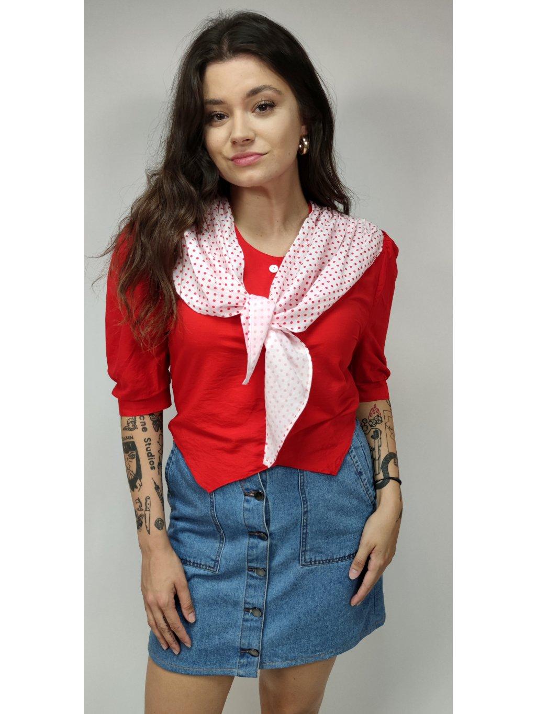 červená vintage halenka