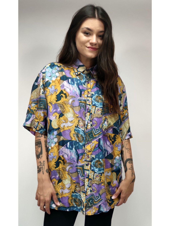 hedvábná vintage košile