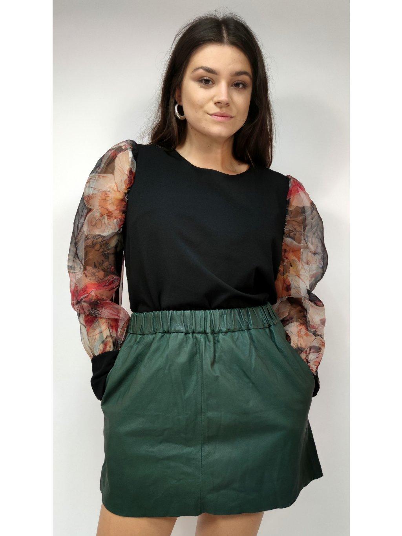 zelená sukně s kapsami