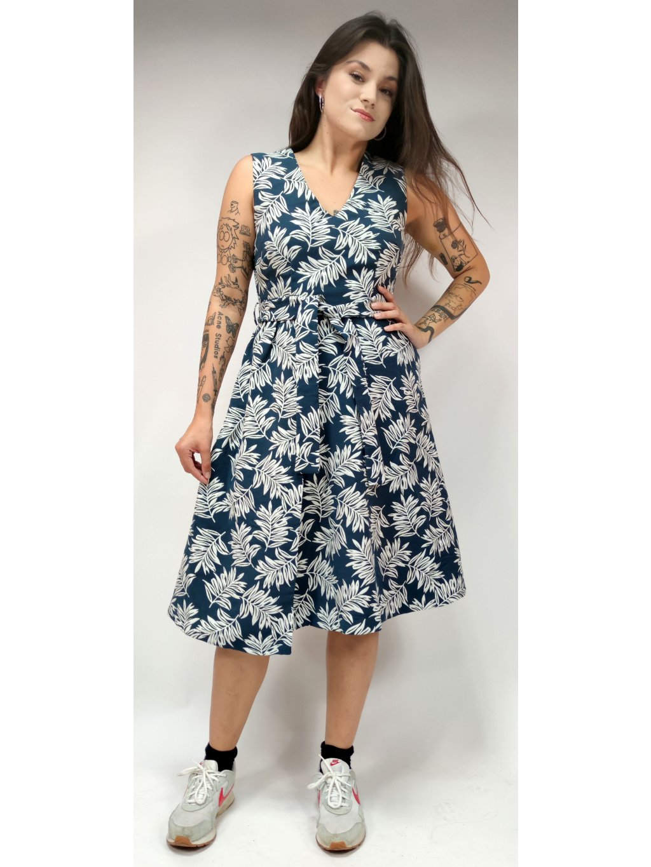 šaty se vzorem listu M&S