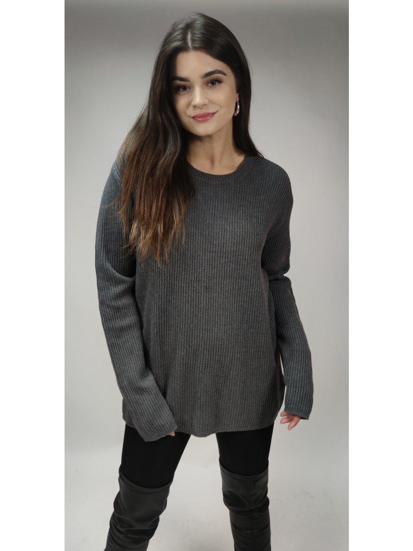 šedý oversized GAP svetr