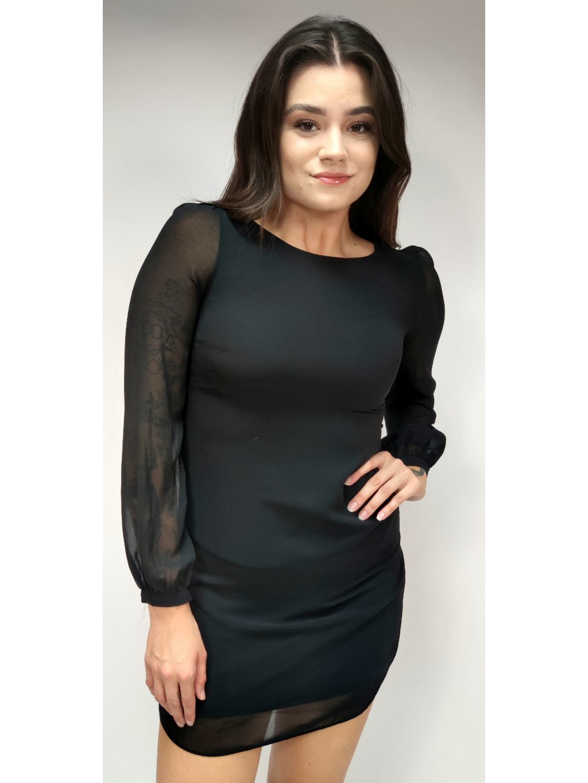 černé šaty s podšívkou