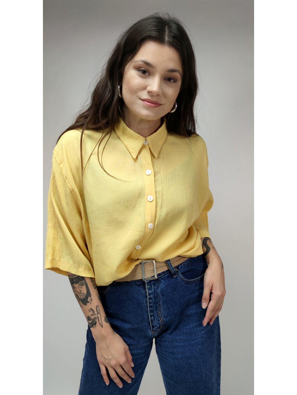 žlutá vintage košile