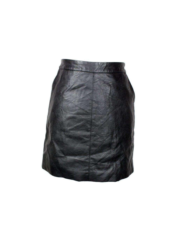černá dámská koženková sukně