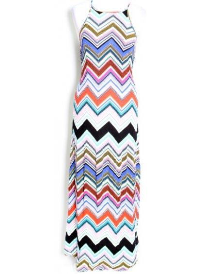 šaty s cik-cak vzorem