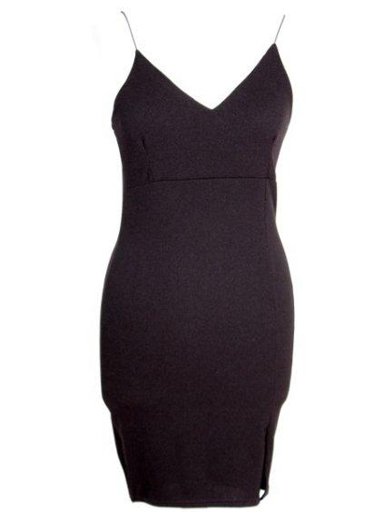 Černé šaty na ramínka