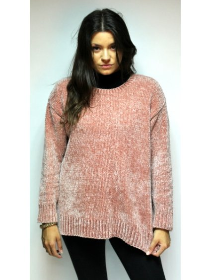starorůžový svetr z příjemného materiálu