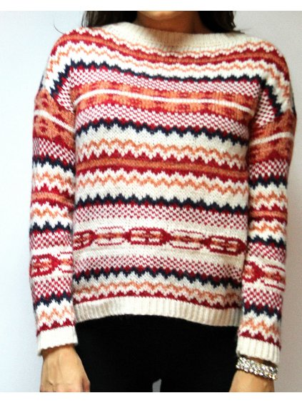 vzorovaný svetr