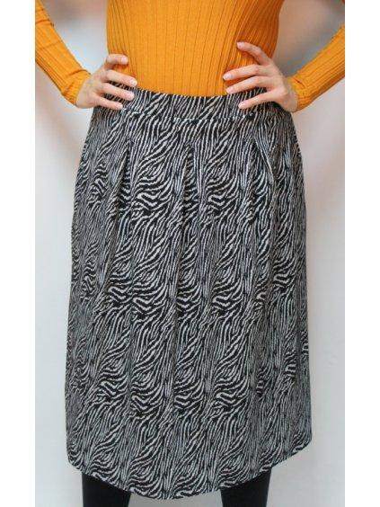 vzorovaná midi sukně do pasu