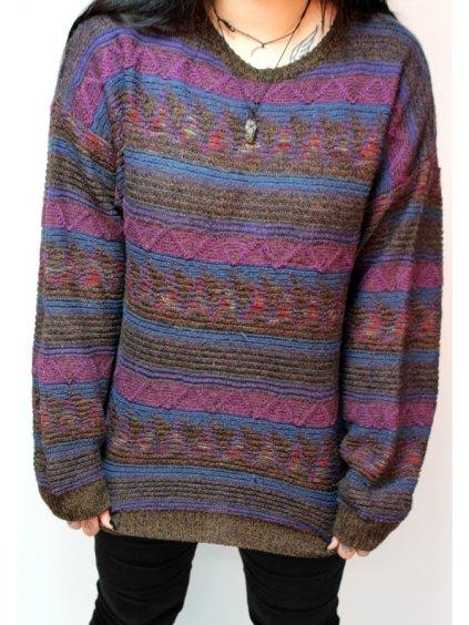 pruhovaný vintage svetr
