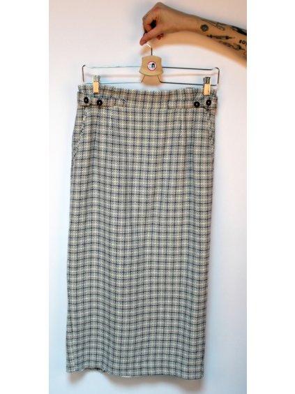 šedá kostkovaná sukně M&S