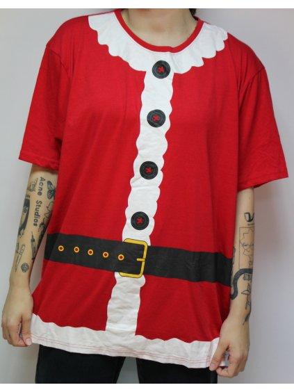 červené vánoční tričko Santa