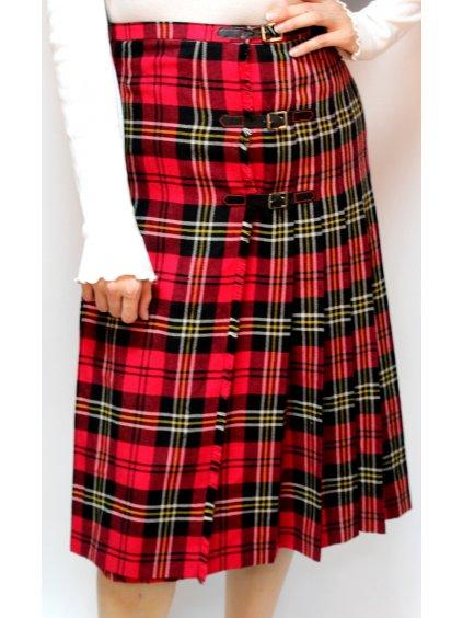 zavinovací tartan vintage sukně