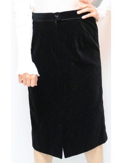 černá vintage sametová sukně
