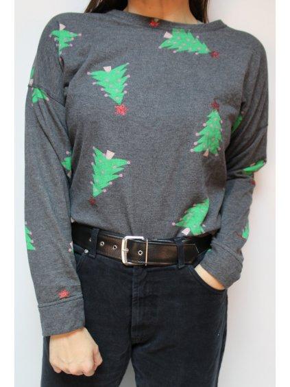 vánoční mikina se stromečkama