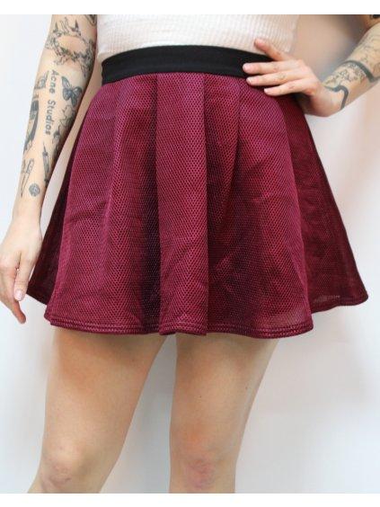 vínová sukně do pasu