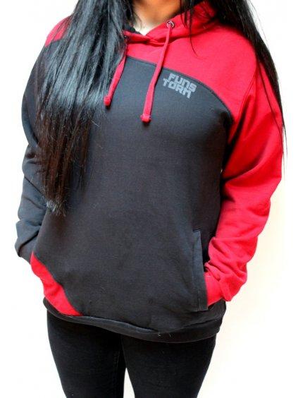 červeno černá mikina funstorm