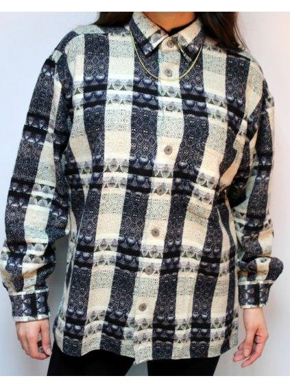 boží vintage košile se vzorem