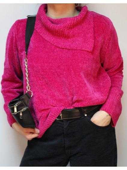 fialovo růžový svetřík