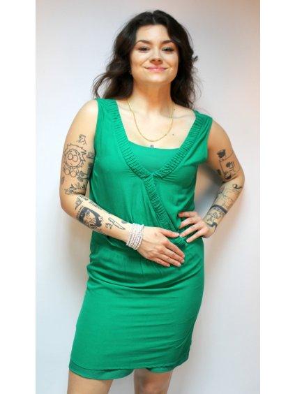 zajímavé zelené šaty