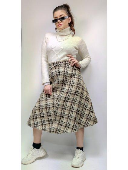 vlněná  teplá sukně